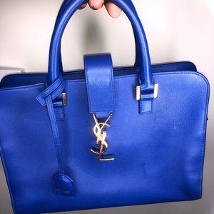 GENTLY USED YSL Leather Monogram Cabas MEDIUM Bag